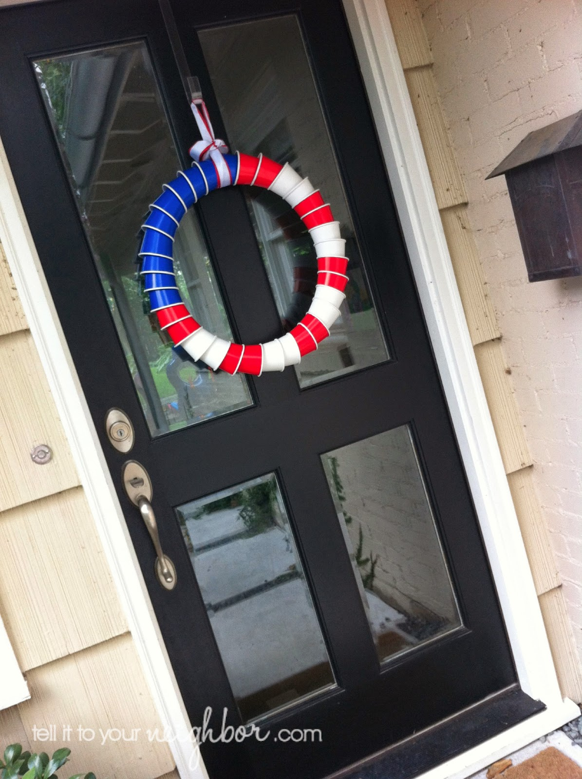 solo cup wreath, american flag wreath