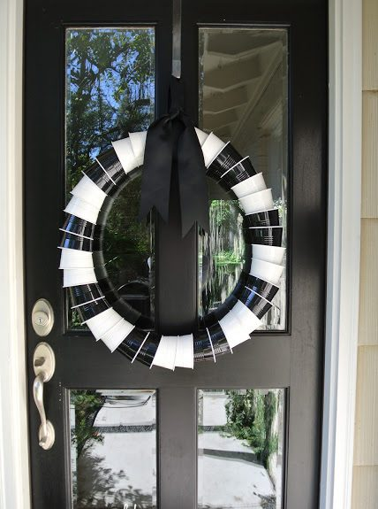 Halloween Solo Cup Wreath