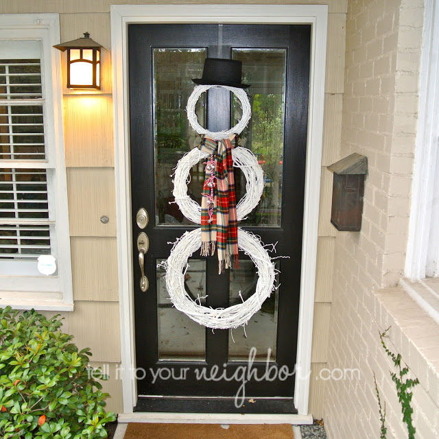snowman wreath, grapevine snowman wreath, white snowman wreath, pinterest snowman