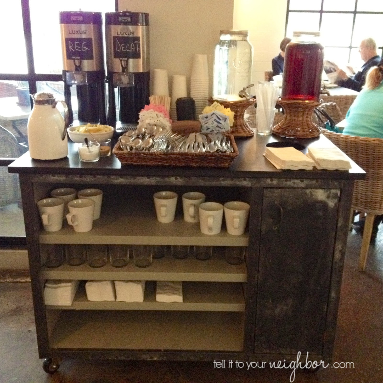Cart In Our Kitchen At Home Probably Started Tiny S No 5 Their Coffee Station Has Everything One Spot Available For Us To Help Ourselves