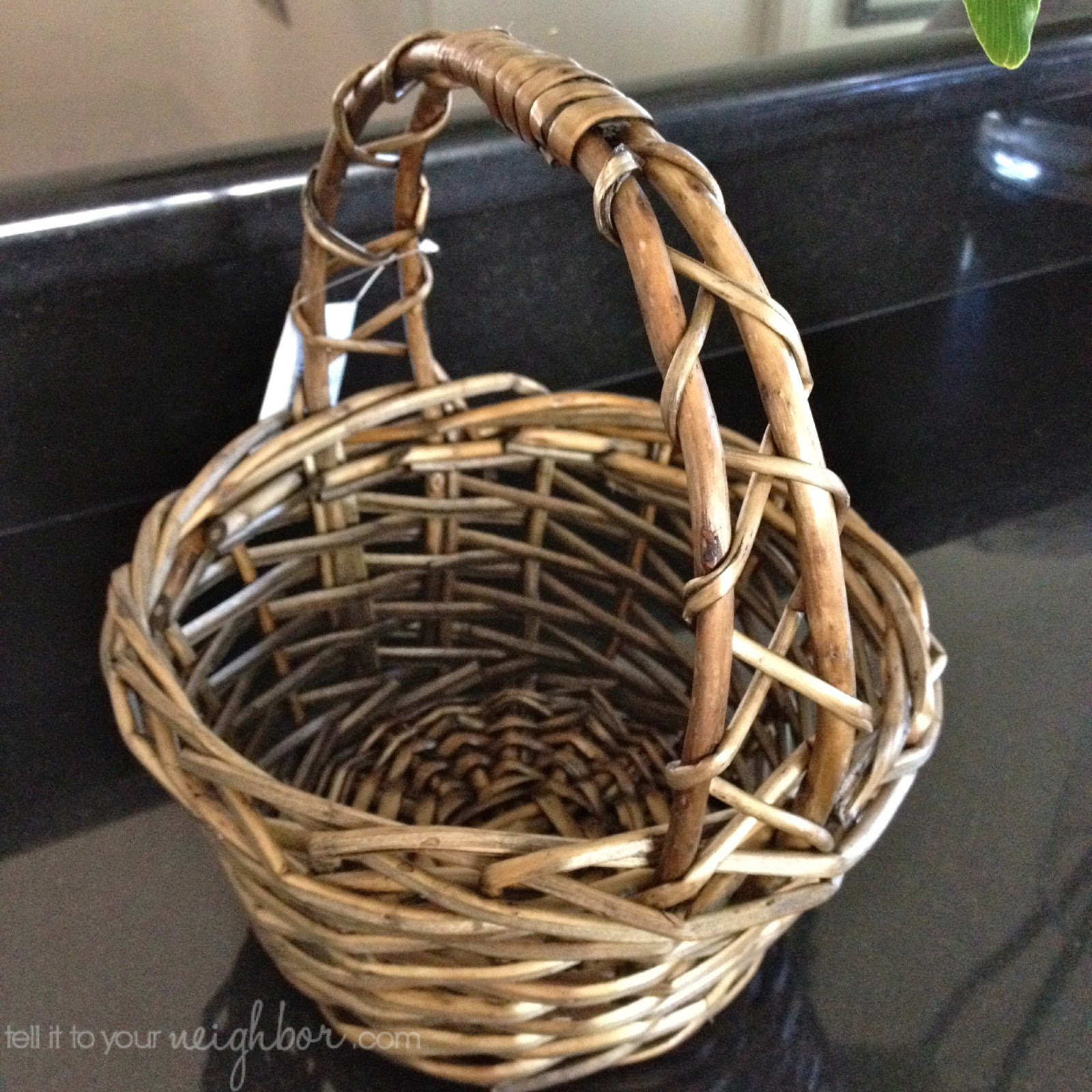 An easter basket for the years tell it to your neighbor find a basket from a craft store with an open weave like this one from michaels negle Image collections