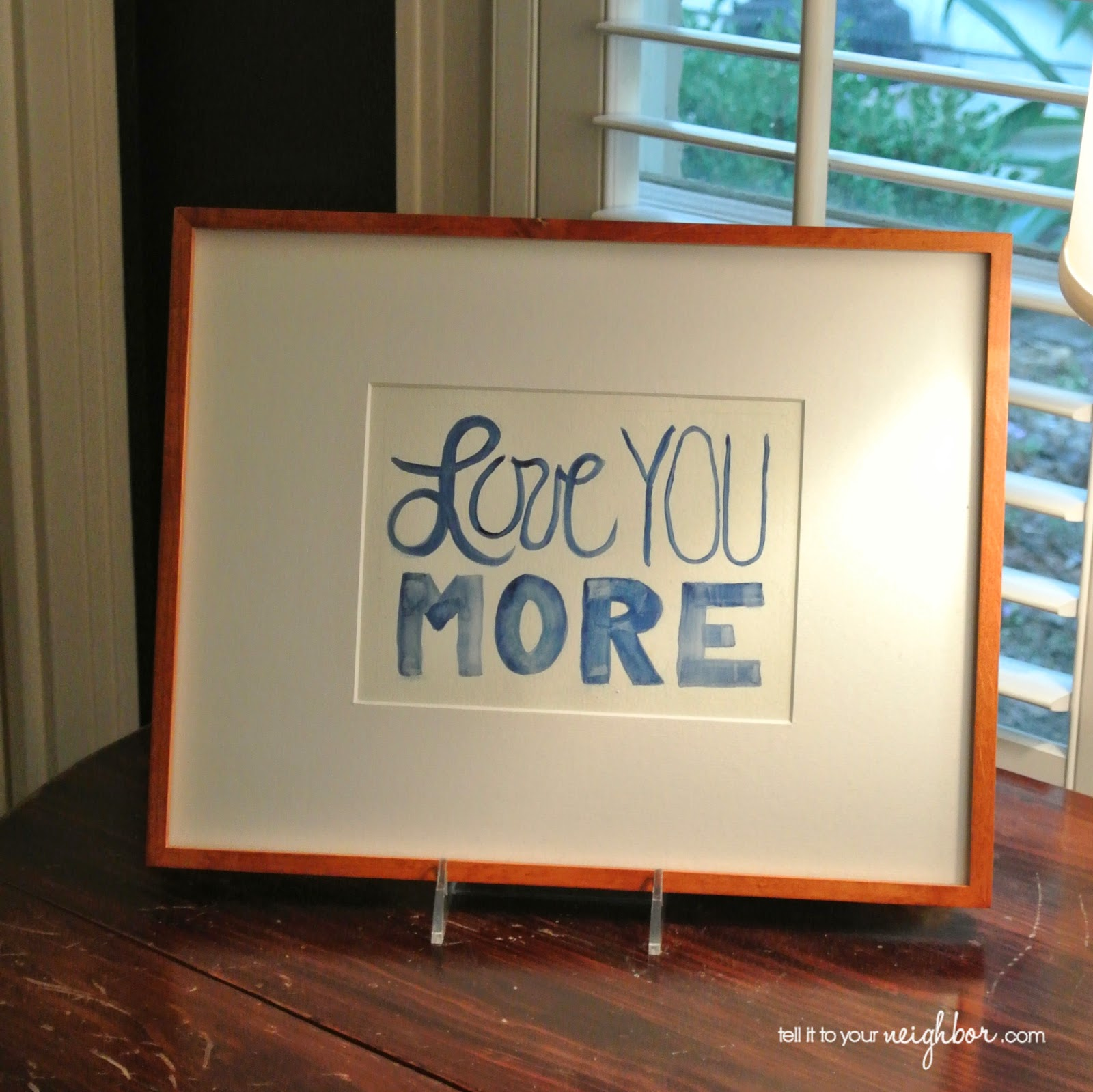 A Nice Frame Ready-To-Go - Tell it to your Neighbor