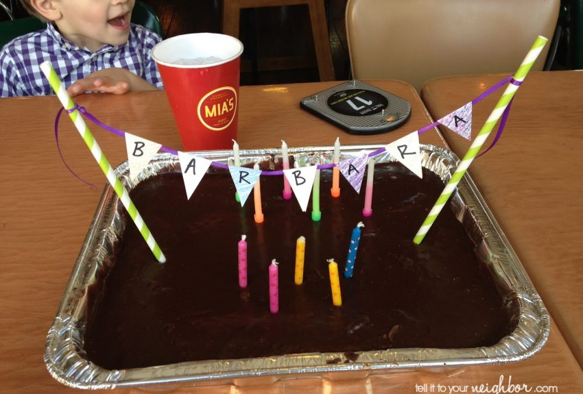 Cake Bunting in a Jiffy