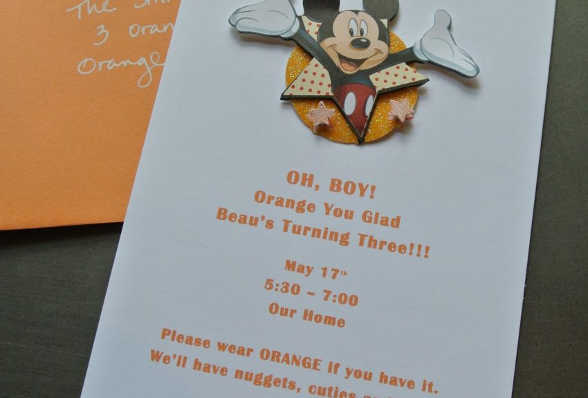 Easy Mickey Mouse Invite + Free Template!
