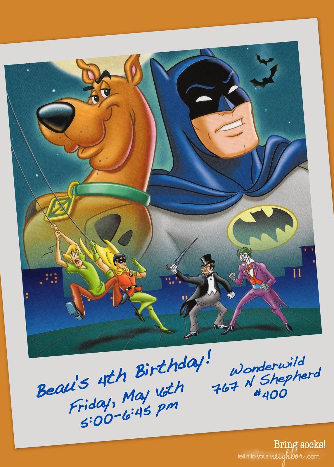 Scooby-Doo Meets Batman Party - Tell it to your Neighbor